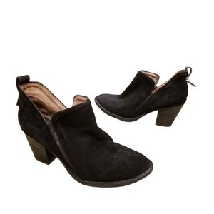Jeffrey Campbell V-Notch Cut Out Suede Booties